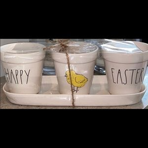 Rae Dunn Happy Easter planters